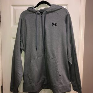 Under Armour light gray full zip hoodie size 2XL